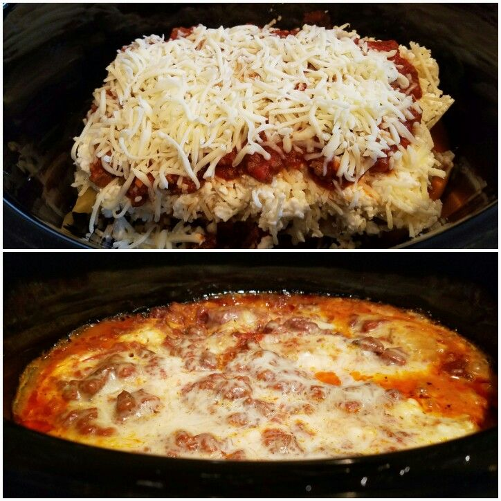 Trying crockpot recipes this week. I substituted Ragu Spaghetti Sauce for the seasoning and chopping. http://tastesbetterfromscratch.com/2015/02/slow-cooker-lasagna.html