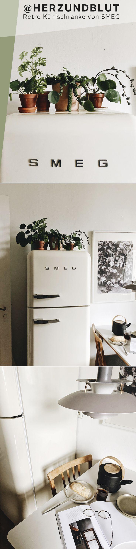 """Ein Kühlschrank ist nur ein Gebrauchsgegenstand? Neeee, ein Kühlschrank ist ein Küchenstatement! Mit ihrem legendären 50s-Style sind die Klassiker von smeg ein absoluter Eyecatcher – und deshalb perfekt geeignet für das """"Projekt Küche"""" der Interior-Blogger von @herzundblut."""