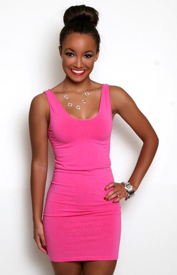 Seamless Perfection Tank Dress in Bright Pink  My Style ...