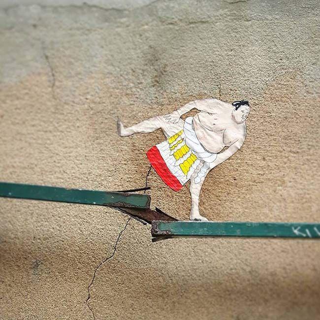 Creative Street Art Works by OakoAk #itsviral #StreetArt #OakoAk