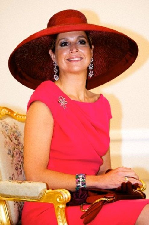Queen Maxima of The Netherlands during an official welcome ceremony and audience at the presidential palace in Warsaw, Poland, 24.06.2014.