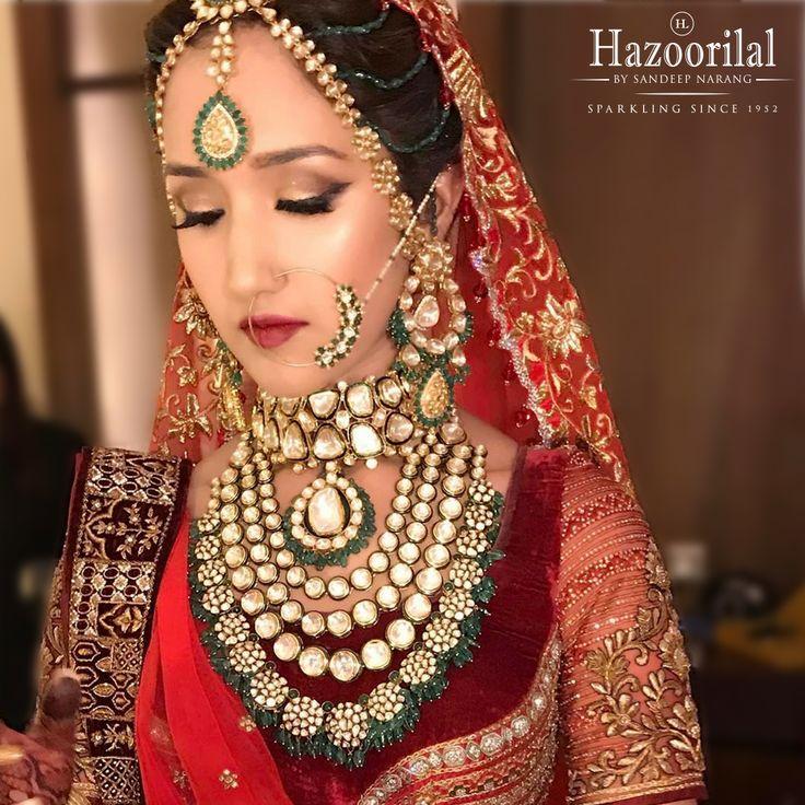 Narrating sagas that leave you spellbound.  #HazoorilalBySandeepNarang #BridesHazoorilalBySandeepNarang #Polki #Emeralds #BridalLooks2017 #JewelleryTrendsetters #ItcMaurya #DlfEmporio #HazoorilalJewellers #HazoorilalBrides #Hazoorilal