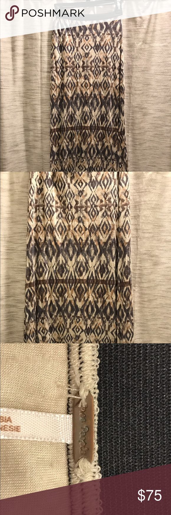 Free People Maxi skirt with slit on the side Free People tribal Maxi skirt Free People Skirts Maxi