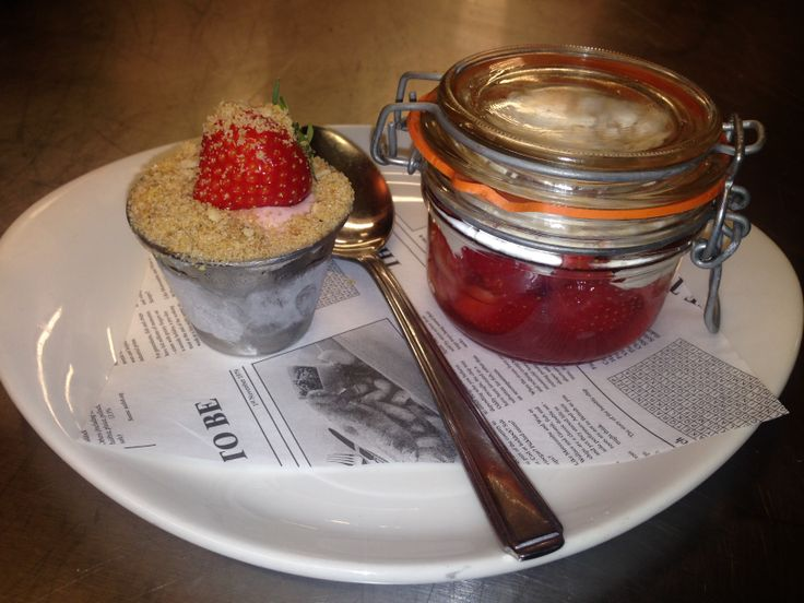 Strawberry & cream has arrived @ the beach deck @£5.95.