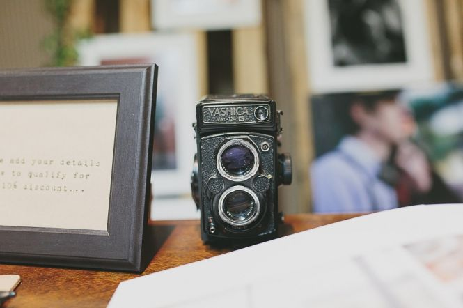 My Stall at the Vintage Bride Wedding Fair Toowoomba - Shutter and Lace Photography  (Yes that Yashica works and I use it!)