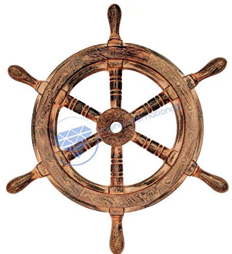 Nautical Handcrafted Wooden Ship Wheel - Home Wall Decor ... https://www.amazon.com/dp/B01DO73D8G/ref=cm_sw_r_pi_dp_x_X0oHybVQ30HSC