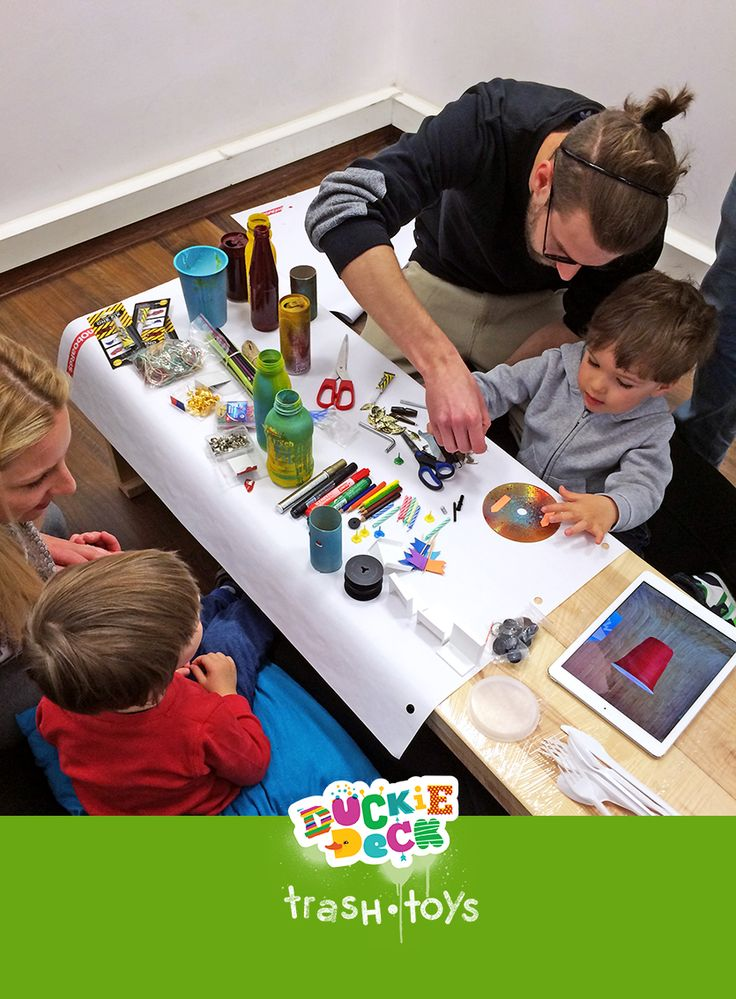 Build recycled toys with Duckie Deck Trash Toys http://duckiedeck.com/apps/trash-toys #app #kids #iPad #iPhone #green #ecology #recycling