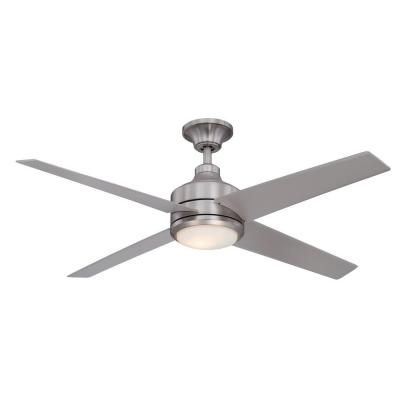 Brushed Nickel Ceiling Fan 14725 At The Home Depot Airflow Efficiency 82i Tri Mount Inst House Odds Ends Pinte