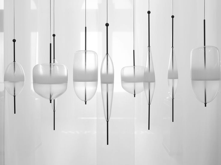 murano glass pendant lamp flow t by gallery s bensimon. Black Bedroom Furniture Sets. Home Design Ideas