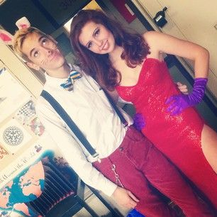 Roger and Jessica Rabbit from Who Framed Roger Rabbit? | This Year's 38 Best '80s Themed Halloween Costumes