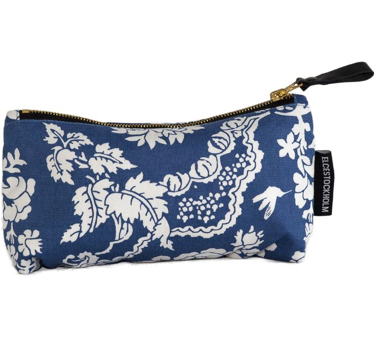 SS15 news from ELCE STOCKHOLM: Beijing makeup bag in denim blue