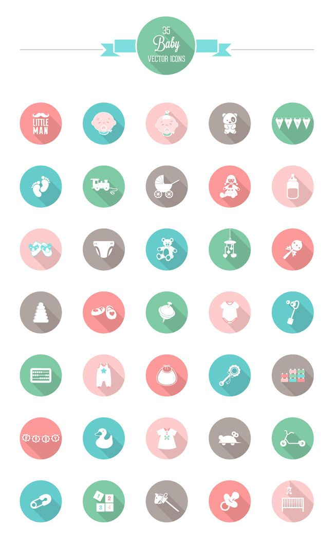 5 Free Funny Babies Icon Sets