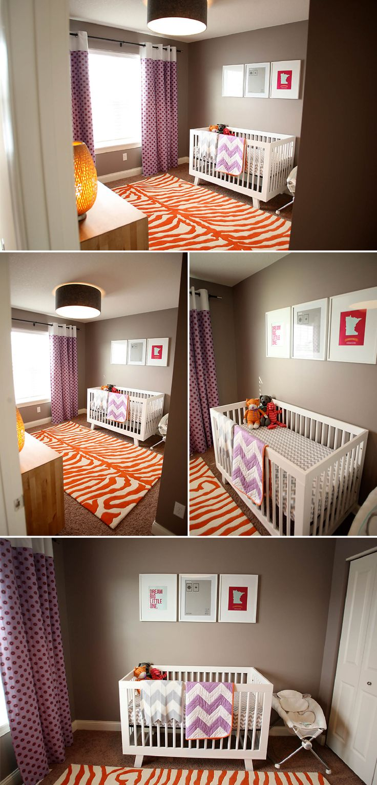 purple and orange baby nursery - Google Search