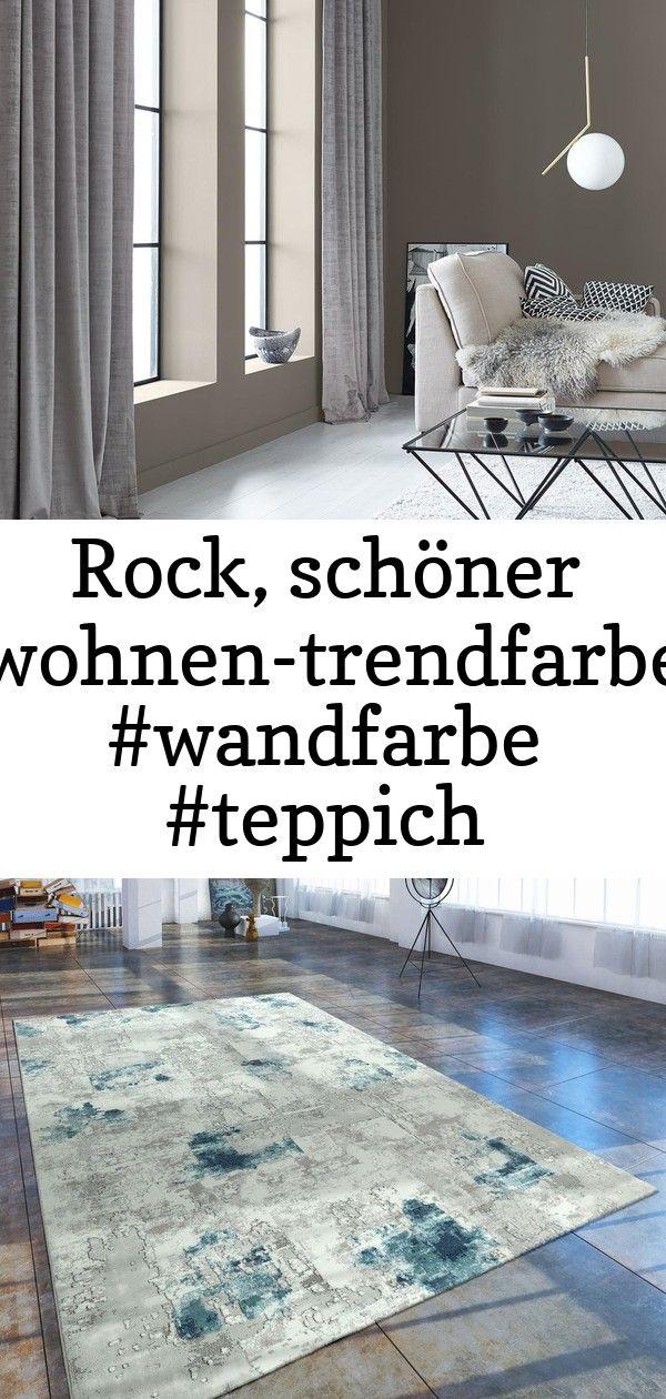 Rock Schoner Wohnen Trendfarbe Wandfarbe Teppich Wohnzimmer Glastisch Wandgestaltung Sofa 2 Home Home Decor Decor