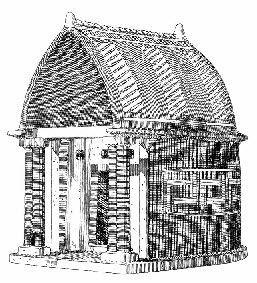 Modellino del tempio di Hera Akraia; VIII secolo a.C.; pianta absidale; Heraion di Perachora.