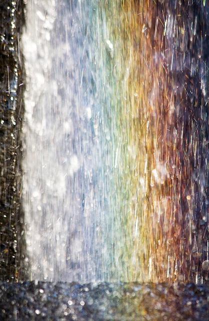 Rainbow and water: Photo