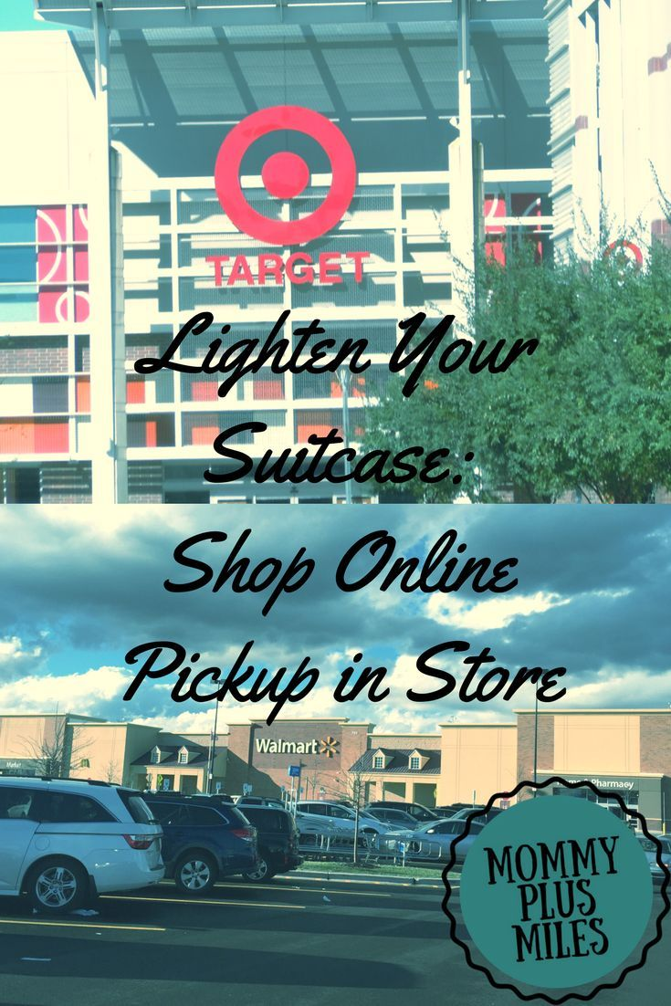Learn how to use shop online pickup in store to lighten your suitcase and still have everything you need for a fabulous vacation with your kids.