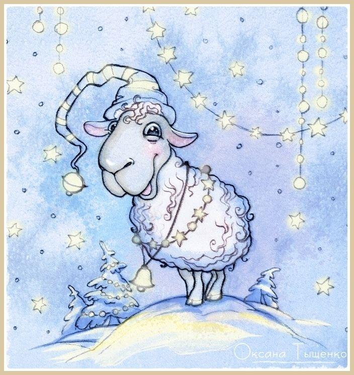 Овцы на открытках, для крестницы фото