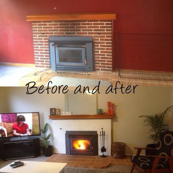 Lounge room before and after. It's great what a bit of paint can do!