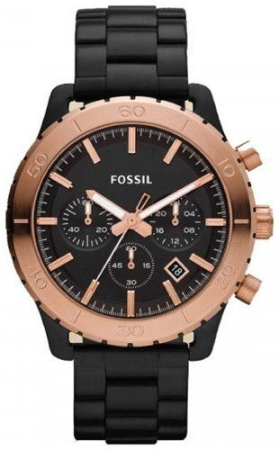 Fossil CH2817 Keaton Black with Rose Stainless Steel Band Men Watch Fossil. $114.28
