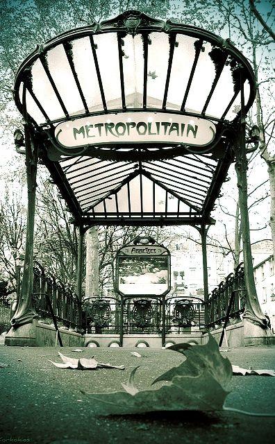 I love the old Art Nouveau Paris Metro signs