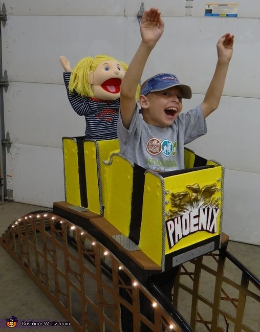 Riding a Roller Coaster - Halloween Costume Contest via @costumeworks