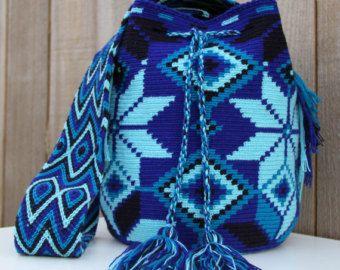 Azul Wayuu Mochila Bag
