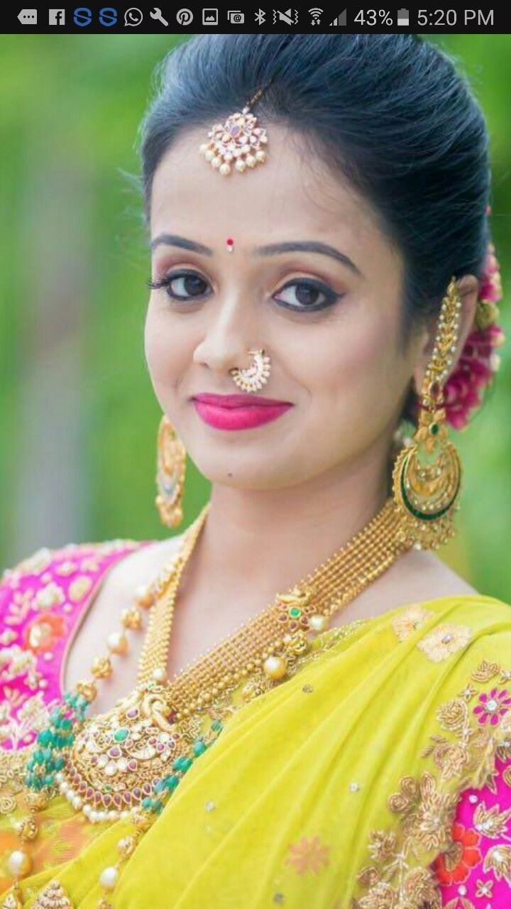 About nath nose ring mukku pudaka on pinterest jewellery gold nose - South Indian Bride Aunties Photosantique Jewellerygold
