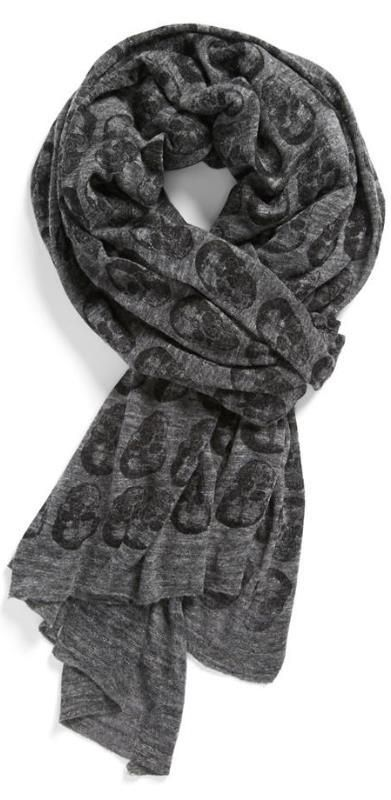 Men's Style - Skull Print Scarf I don't care if it says it's for men, I'll rock the shit out of that scarf.