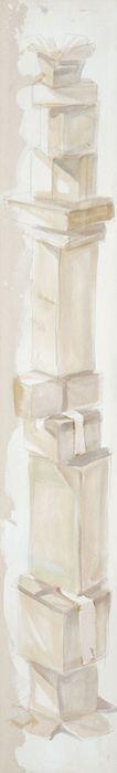 """Fragilissimo"" 2013, pastello e olio su tela, cm 200 x 30"