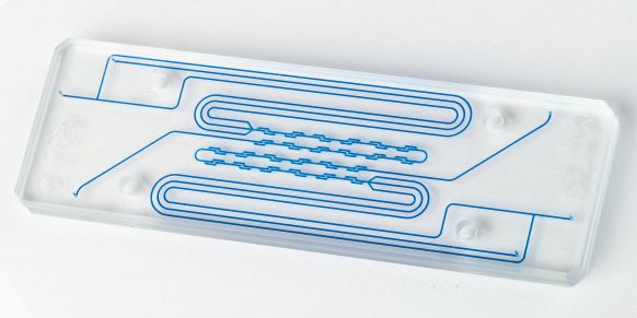 Microfluidic chip from Glass Solutions. http://www.glass-solutions.com/custom-glassware/custom-glassblowing-for-scientists.html