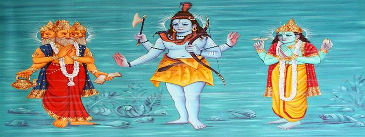 Brahma Vishnu Mahesh is the god of Hinduism and functions of creation, maintenance and destruction are personified by the forms of brahma the creator, Vishnu the protector and the shiva is destroyer.