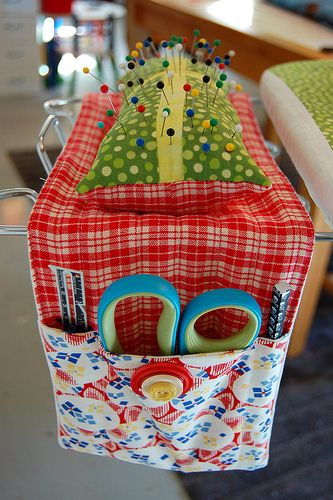 Sew This Handy Ironing Board Caddy - Fantastic Tutorial! #sewing