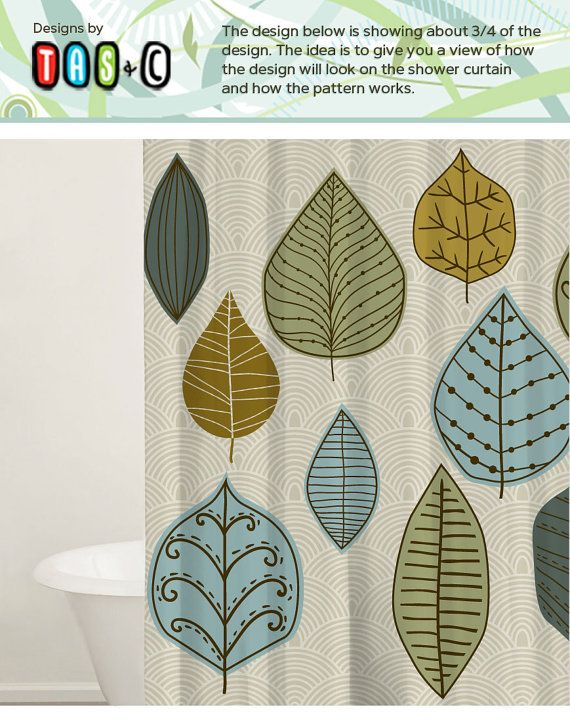 Modern Shower Curtain Set, Bathtub Curtain, Custom Shower Curtains, Custom  Fabric Shower Curtain Part 67