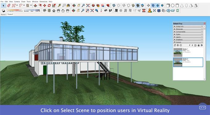Sentio Vr Sketchup To Virtual Reality Vr Walkthroughs Is The