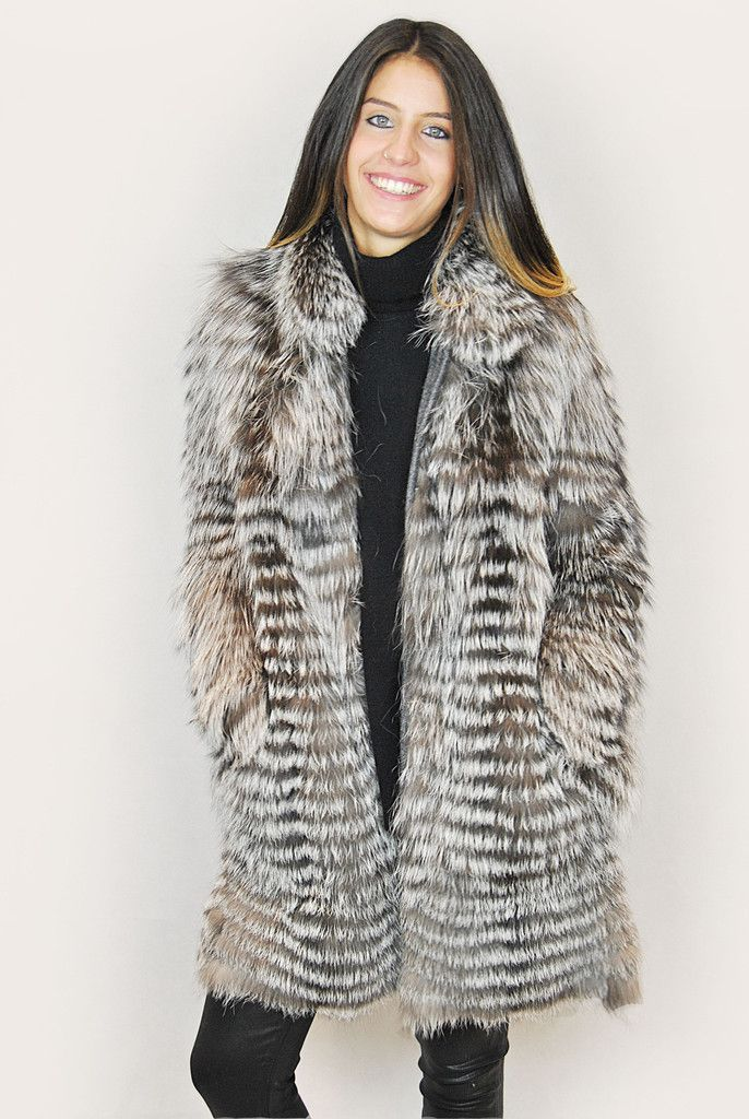JESSIMARA SILVER FOX FUR COAT