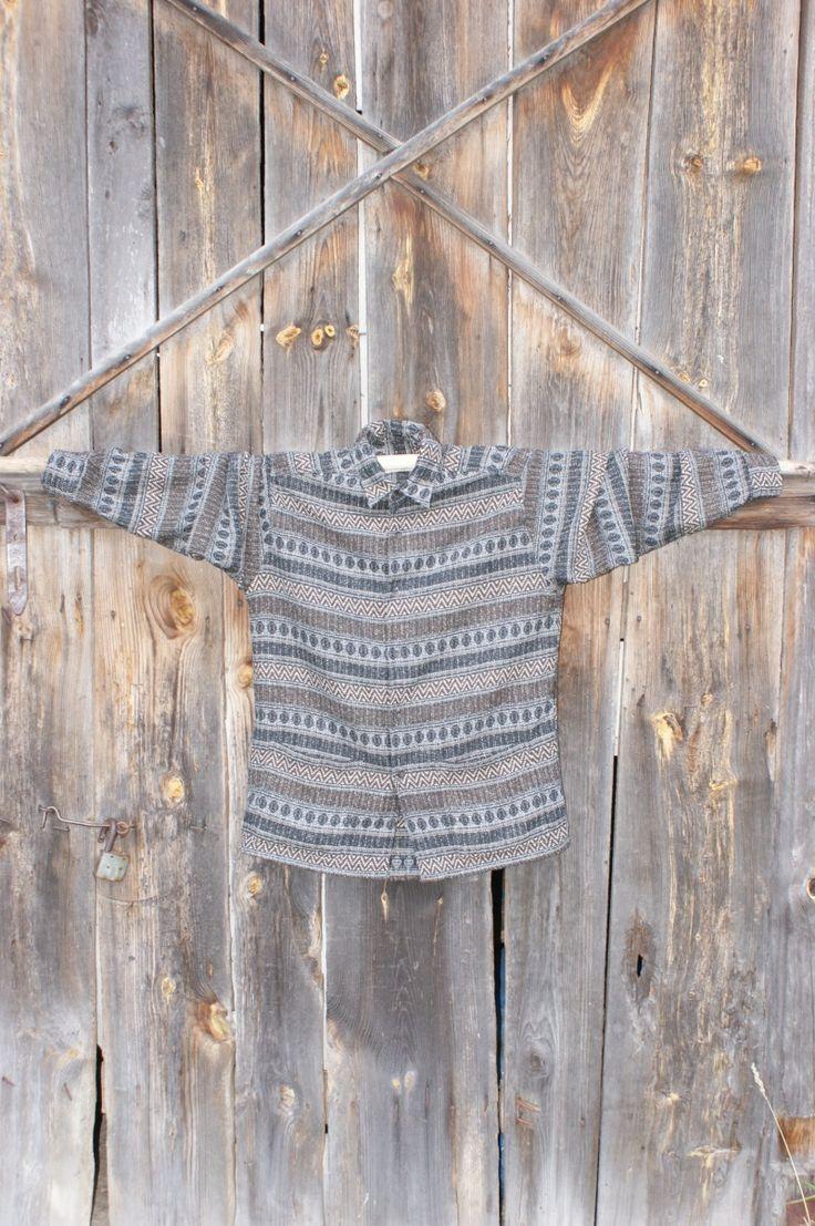 męska vintage szara koszula we wzory/vintage shirt od Kingdom of Vintage