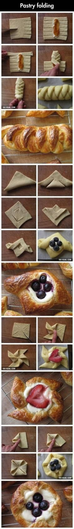 Crescent roll pastry or puff pastry to appetizer wreaths. Fill with ham & broccoli or chicken & asparagus or whatever