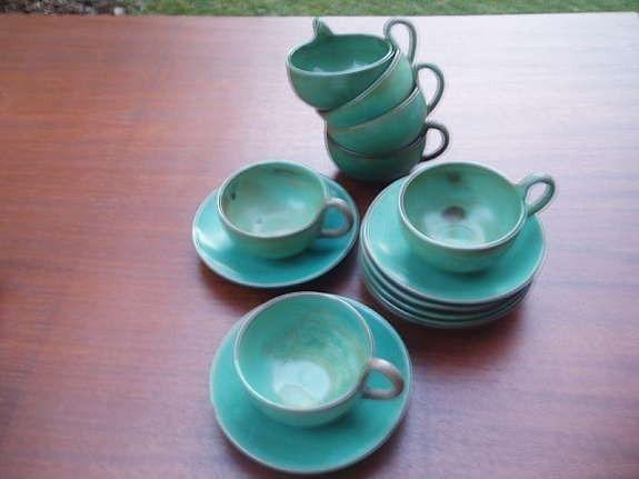 FINN – Norsk 1930 talls keramikk servise fra GRAVEREN design Ragnar Grimsrud