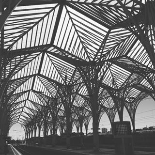 Stunning glass structure over the Oriente train station #architecture #lisbon #lisboa #portugal #glass #sculpture #trainstation #design #designtour #europe