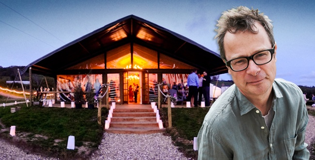 The god of self-sufficiency, founder of River Cottage, Hugh Fearnley-Whittingstall