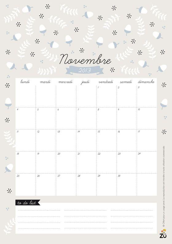 No hay ni un solo mes que no me rechifle su calendario: Noviembre 2013, por Zü >> zü: Calendrier 2013 DIY // NOVEMBRE