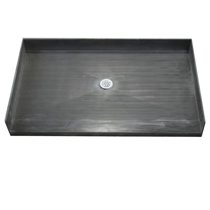 Tile Ready Shower Pan 30x54-inch Center Barrier Free PVC Drain (Shower Pan black 30x54 Cntr Barrier Free PVC Drain)