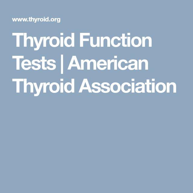 Thyroid Function Tests | American Thyroid Association