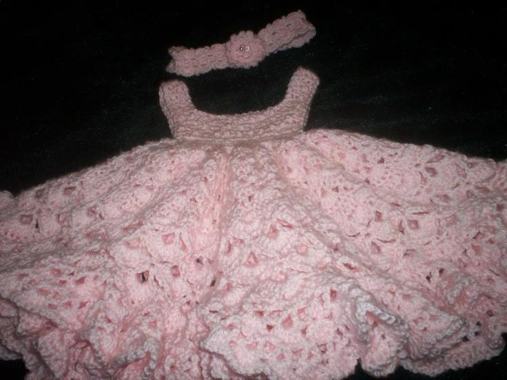 crochet baby dress, I love it.