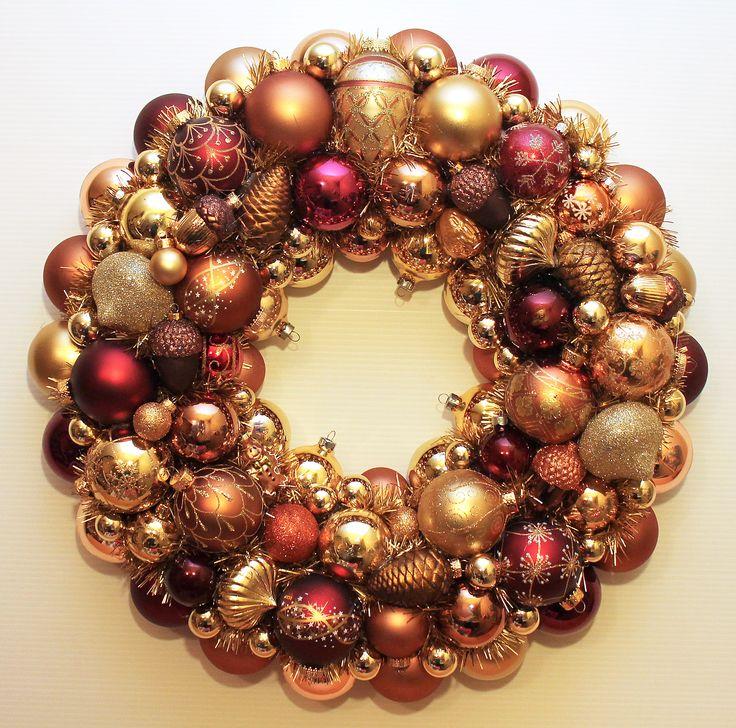 289 best vintage christmas ornament wreaths images on pinterest