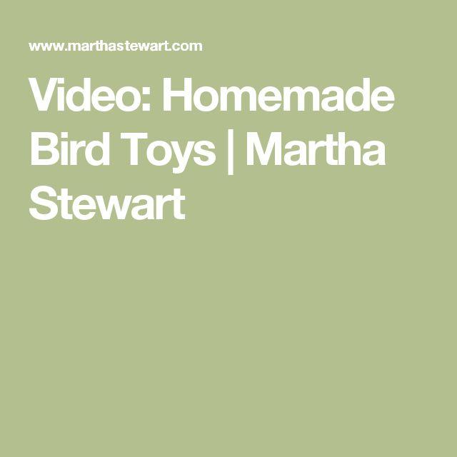 Video: Homemade Bird Toys | Martha Stewart