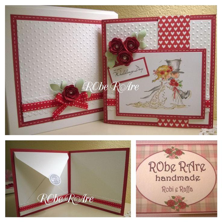 card portasoldi per matrimonio in rosso