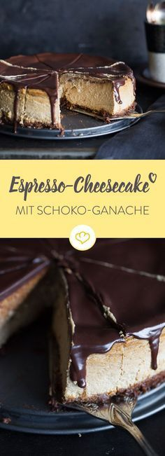 Mach deine Wohnung zum schicken Café mit diesem Espresso-Cheesecake. Er backt sich ganz nebenbei und macht richtig was her auf der Kaffeetafel.