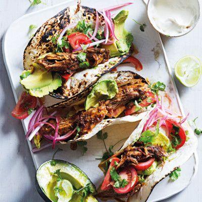 Taste Mag | Slow roasted pork mole tacos @ http://taste.co.za/recipes/slow-roasted-pork-mole-tacos/